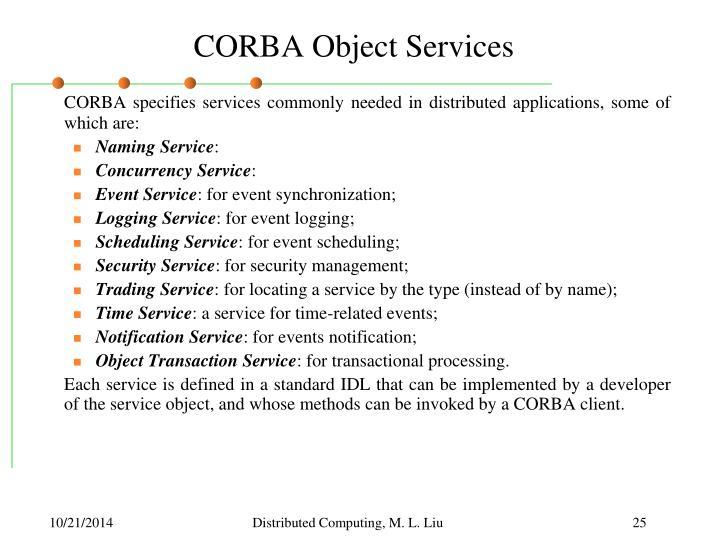 CORBA Object Services