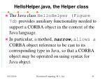 hellohelper java the helper class