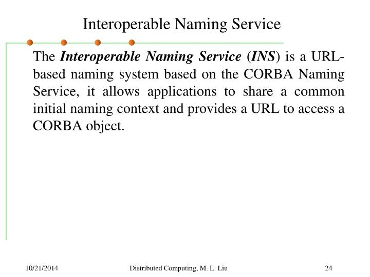 Interoperable Naming Service