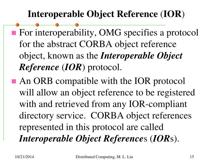Interoperable Object Reference