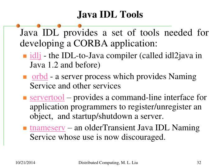 Java IDL Tools