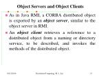 object servers and object clients