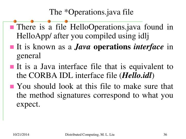 The *Operations.java file