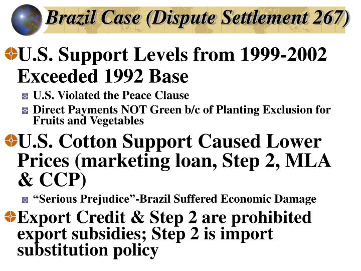 Brazil Case (Dispute Settlement 267)