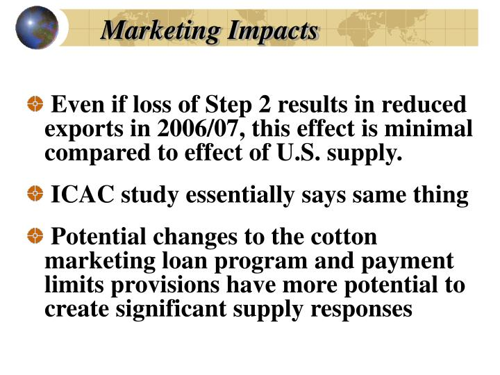 Marketing Impacts