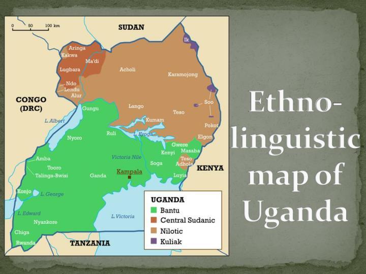 Ethno-linguistic map of Uganda