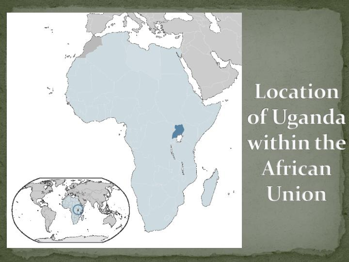 Location of Uganda within the African Union
