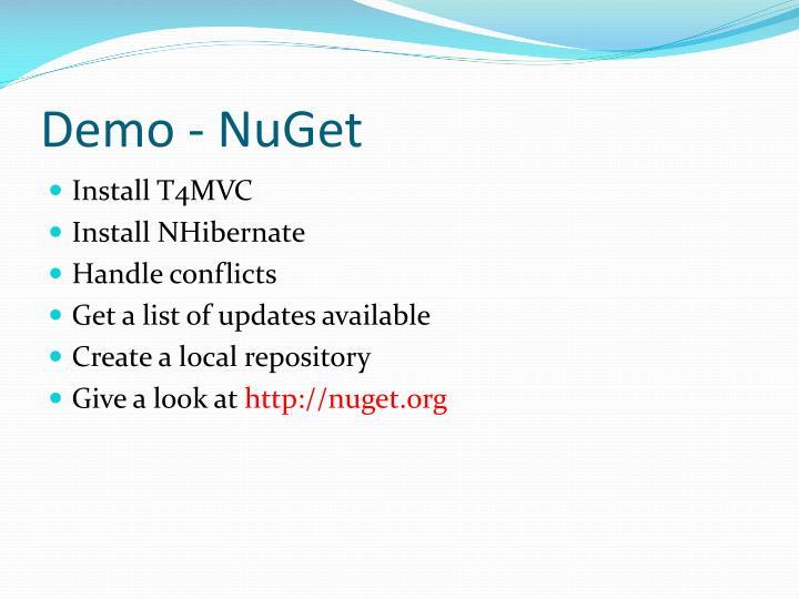 Demo - NuGet