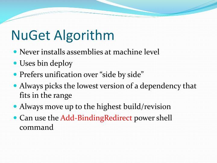 NuGet Algorithm