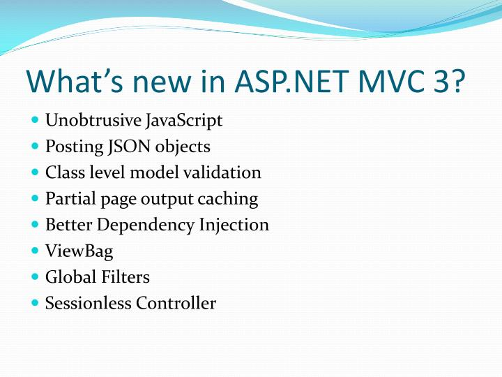 What's new in ASP.NET MVC 3?