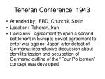 teheran conference 1943