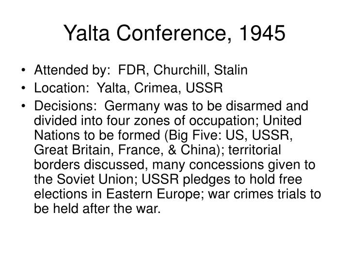 Yalta Conference, 1945