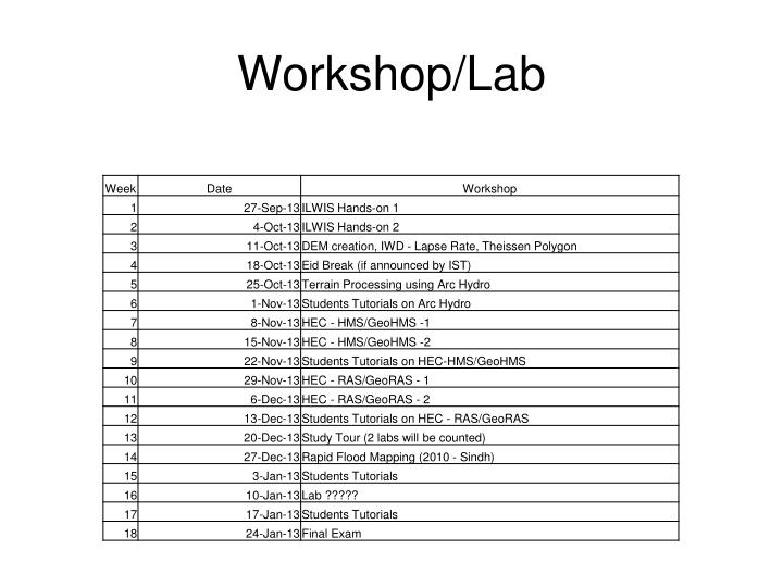 Workshop/Lab