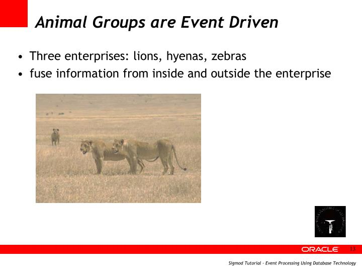 Animal Groups are Event Driven