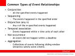 common types of event relationships