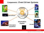 components event driven systems