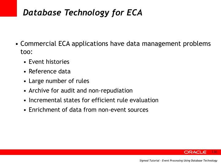 Database Technology for ECA