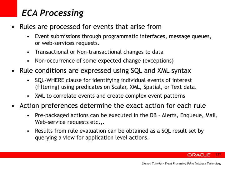 ECA Processing