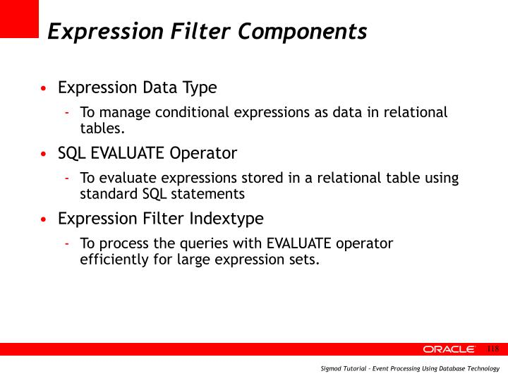 Expression Filter Components