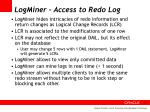 logminer access to redo log