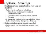 logminer redo logs
