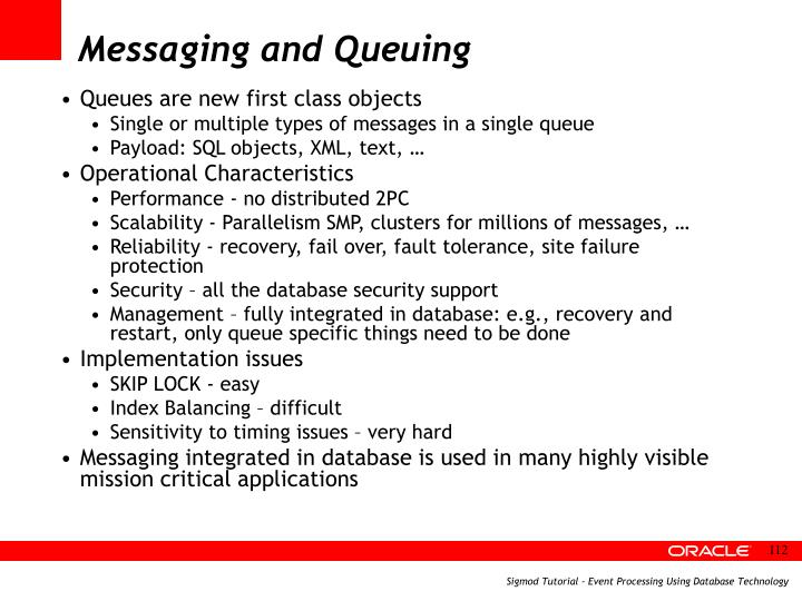 Messaging and Queuing