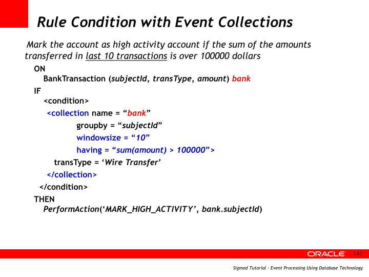Rule Condition with Event Collections
