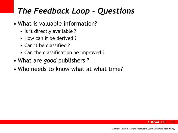 The Feedback Loop - Questions