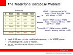 the traditional database problem