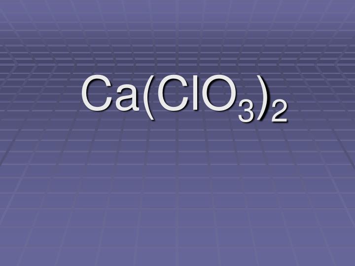 Ca(ClO
