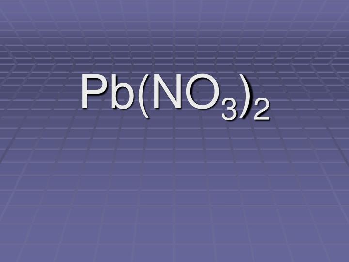 Pb(NO