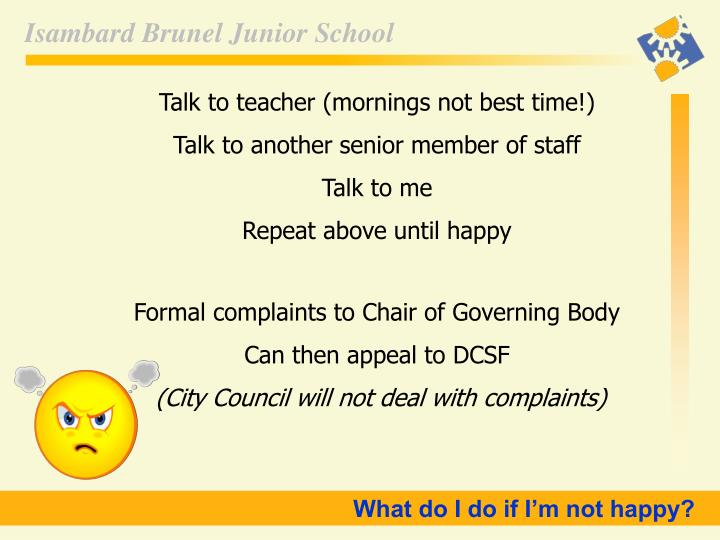 Talk to teacher (mornings not best time!)