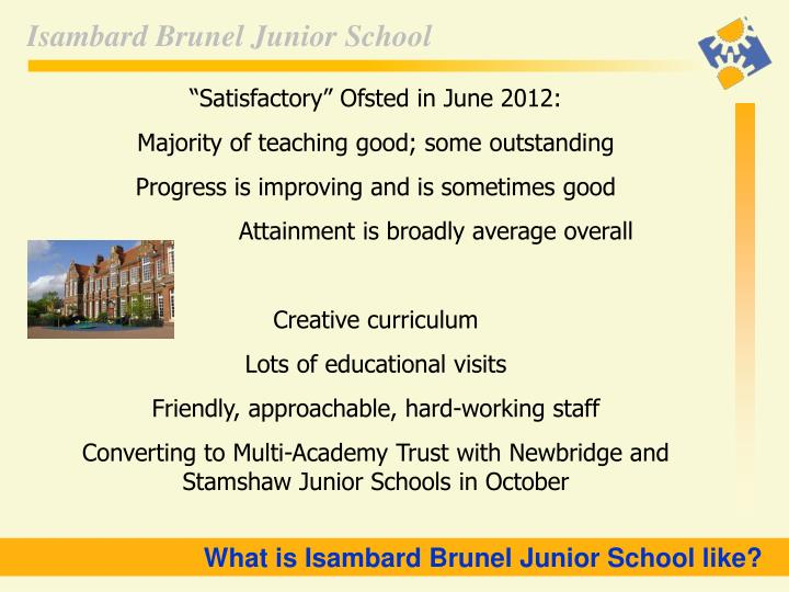 """Satisfactory"" Ofsted in June 2012:"