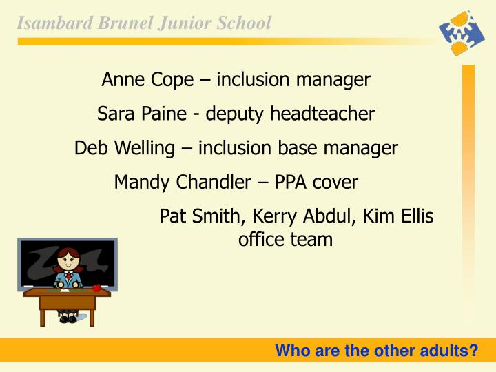 Anne Cope – inclusion manager