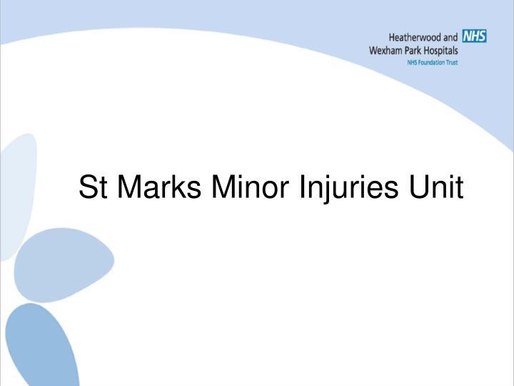St Marks Minor Injuries Unit
