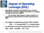 degree of operating leverage dol1