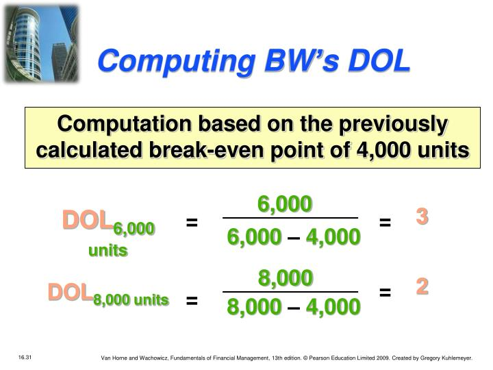 Computing BW's DOL