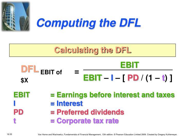 Computing the DFL