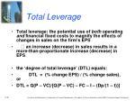 total leverage