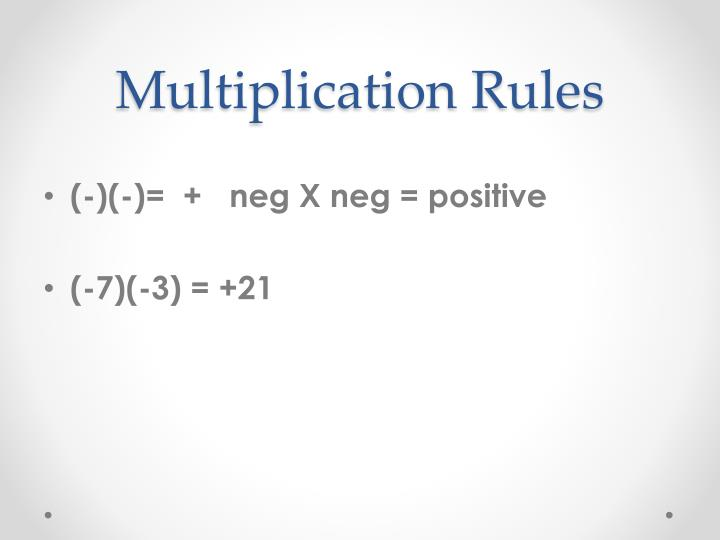 Multiplication rules1