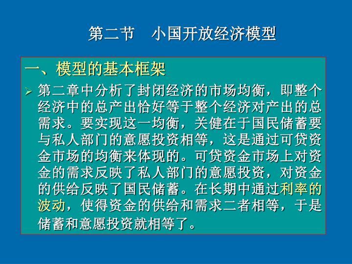 第二节  小国开放经济模型