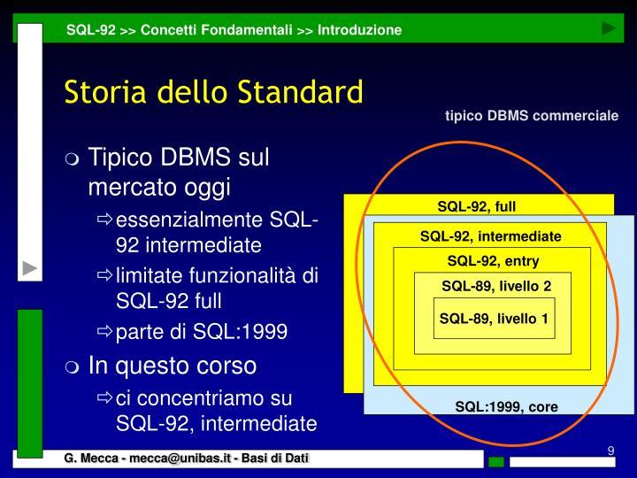 Tipico DBMS sul mercato oggi