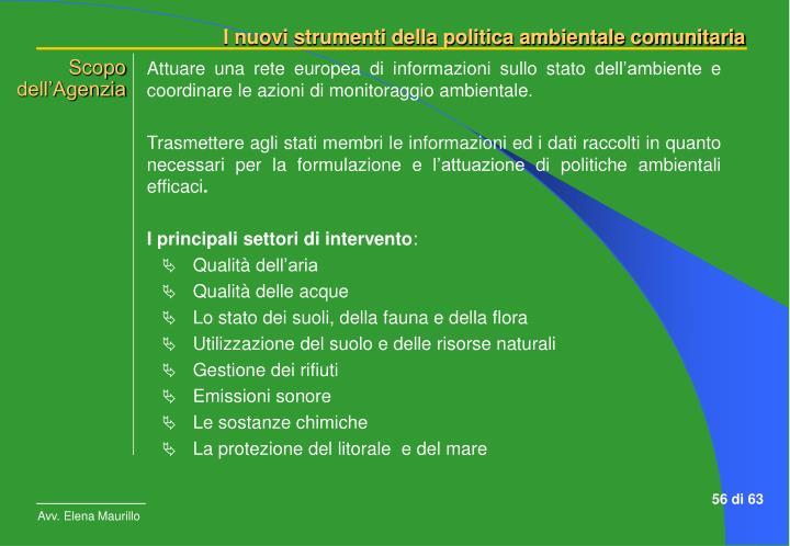 Attuare una rete europea di informazioni sullo stato dell'ambiente e coordinare le azioni di monitoraggio ambientale.