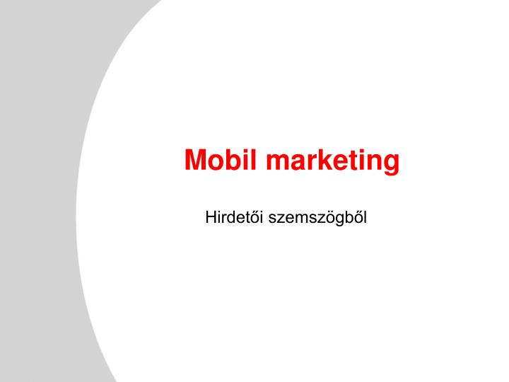 Mobil marketing