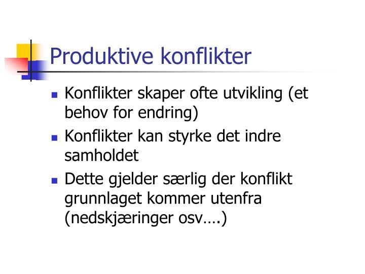 Produktive konflikter