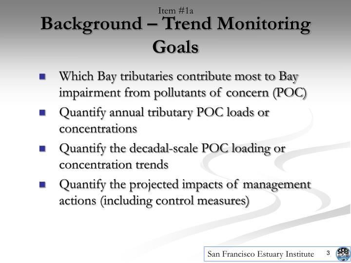Background trend monitoring goals