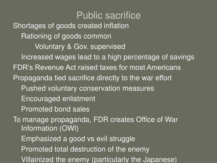 Public sacrifice