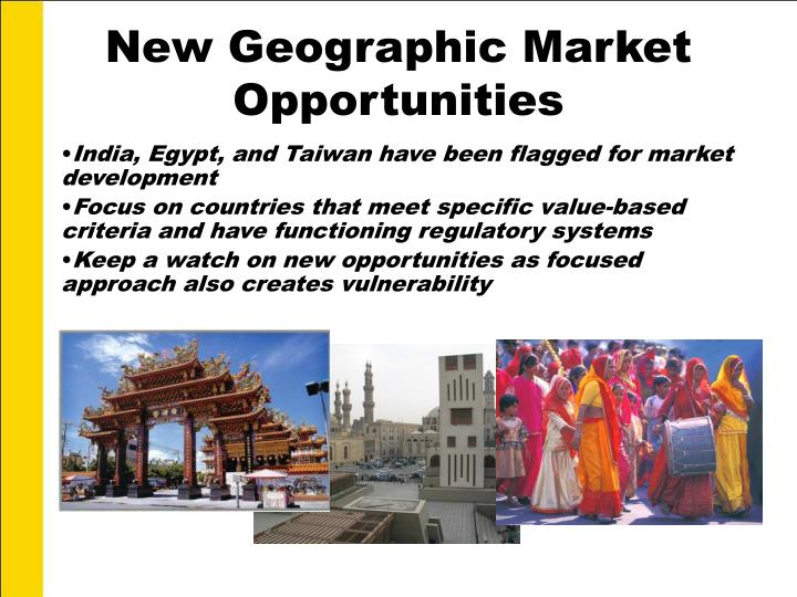 New Geographic Market Opportunities