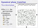 dynamical phase transition