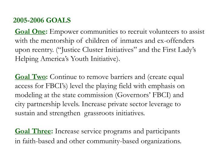 2005-2006 GOALS